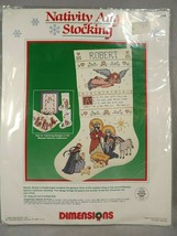 Dimensions Christmas Nativity Angel Stocking Counted Cross Stitch Kit  - $33.66
