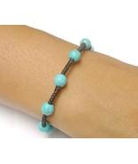Handcrafted Thai Jewelry Turquoise BEAD Fair Trade Buddhist BRACELET Wri... - $8.47