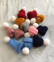 """Knit hats mini lot of (12) Snowman, Dolls Crafts Approx 1"""" Cuffed Uncuff... - $10.00"""