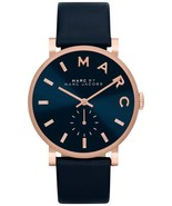 New Marc by Marc Jacobs Baker Rose Gold Navy Leather Women's Watch MBM1329 - £76.36 GBP