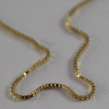 18K YELLOW GOLD CHAIN MINI 0.7 MM VENETIAN SQUARE LINK 19.70 INCH. MADE IN ITALY image 4