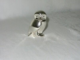 Christofle Silver Plate Vintage Owl Figurine Paperweight France Bird Figure - $98.99