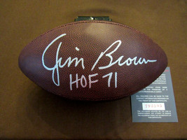 JIM BROWN HOF 71 CLEVELAND BROWNS SIGNED AUTO WILSON NFL FOOTBALL BLACKS... - $395.99