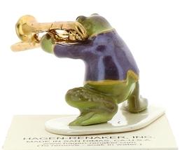 Hagen-Renaker Miniature Ceramic Frog Figurine Toadally Brass Band Trombone image 3