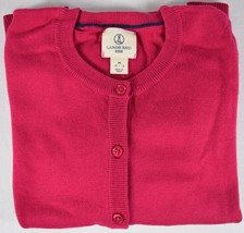 Lands' End Kids 100% Cotton Long Sleeve Cranberry Red Sweater Size M (10... - $9.89