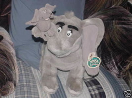 Jumbo Horton Plush Toy With Baby Universal Studios With Tags Cute - $59.39