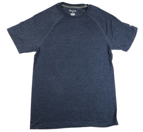 Champion Men's Raglan Short Sleeve Shirt Tee T-Shirt Heather Blue NEW