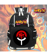 Naruto Theme Logo Series Backpack Daypack Schoolbag Sharingan - $38.99