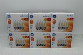 Lot of 6 GE LED 4-Pack 40w/3.5w Soft White Decorative CAM Dimmable Bulb 32218 - $46.27