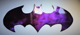 """Batman Metal Wall Art - Purple - 14 1/4"""" x 7"""" - $22.98"""