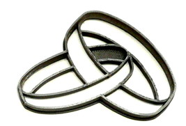 Linked Rings Anniversary Wedding Engagement Shower Cookie Cutter USA PR2587 - £2.31 GBP
