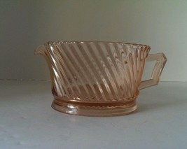 Vtg Federal Glass Diana Pattern Oval Creamer small chip on base - $12.86