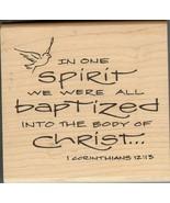 Inkadinkado Rubber Stamp 9495-0 Saying, We are all Baptized SSBD-3 - $11.17