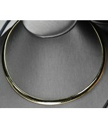 """14K Yellow Gold Omega link Necklace Italy 31gr, 18"""" Excellent Condition - $1,995.00"""