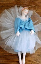 "Porcelain Ballerina Christmas Ornament/Wall Hanger 9""Tall VGCond.Pre Owned - $9.89"