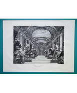 ITALY Turin Interior of Royal Armory - 1876 Antique Print - $13.49