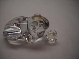 VINTAGE Set of 2  GLASS Frog FIGURINES 1 Atlantis LARGE Ball Feet 1 Aust... - $30.46