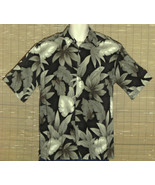 CAMPIA MODA Hawaiian Shirt Black Green Medium - $19.95