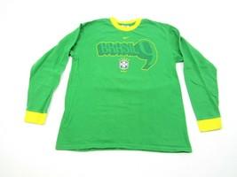 Nike Team Ronaldo Brazil Long Sleeve T-Shirt Green 9 Real Madrid Barcelona Sz M - $18.76