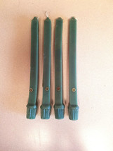 """Vintage Set of 4 Colonial Candle of Cape Cod Green 10"""" Taper Candles (NWOT) - $8.42"""