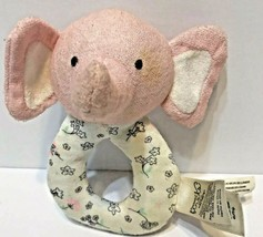 Precious Firsts by Carter's Pink and White Elephant Rattle Ring Plush Baby  - $10.62