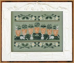 Welcome Spring cross stitch chart Country Cottage Needleworks - $7.20