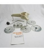 Vintage Moulinex #445 Mouli-Julienne 5 Disc Grater Shredder Slicer w/ins... - $17.76