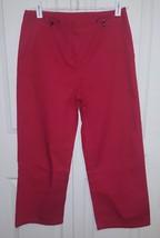 """Ann Taylor Red Cotton Light Women""""s Capri Pants Size 4 - $21.78"""