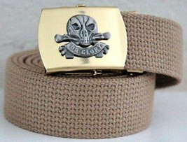 US Army Death or Glory Khaki Belt & Buckle - $14.84