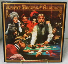 K ROGERS THE GAMBLER VINYL LP RECORD 1978 IN WHITE SLEEVE AND OUTSIDE SL... - $19.80