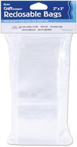 "Darice Reclosable Bags 100/Pkg-2""X3"" Clear - $4.99"