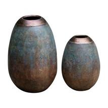 Uttermost 2-Pc Vase Set in Etruscan Sky Finish - $327.80