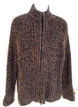 EXPRESS Men Sweater XL Multi-Color Herringbone Full Zip Heavy Mockneck C... - $29.75