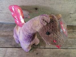 Scorch Dragón Ty Beany Baby Etiqueta Protector Nuevo Juguete de Felpa - $4.17