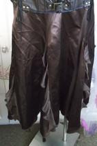 Wallis Size 12 Skirt In Brown satin, ruffled design. Ideal Steampunk - $32.88