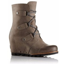 SOREL Joan Of Arctic Wedge Mid Boots Womens 6.5 8.5 9 9.5 11 Dark Fog Wa... - $152.94