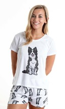 Dog Border Collie pajama set with shorts for women - $30.00