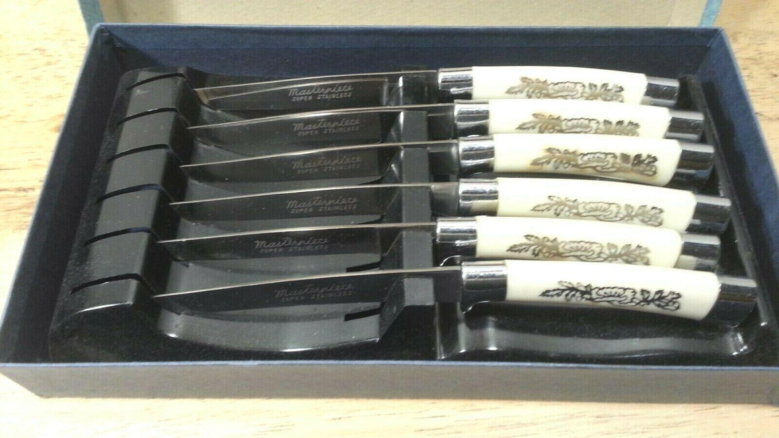 Vintage - Steak Knife Set - Royal Brand - 6 piece - Original Box & Storage Tray  - $12.36