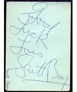 SCOTT BRADY Autograph. Signed on album page. - $11.88
