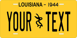 Louisiana 1944 License Plate Personalized Custom Car Bike Motorcycle Moped Tag - $10.99+
