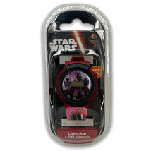 Disney Star Wars Unisex Kids Red Black Digital Light Up LCD Watch Age 6+ - $12.99