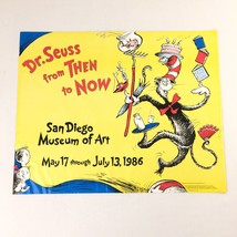 Dr Seuss From Then to Now Poster 1986 San Diego Museum of Art Vintage Un... - $49.98