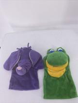 Reading Purple Elephant Math Green Frog Puppets Plush Macmillan McGraw - $9.49