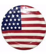"4th of July Paper Plates 12 Per Package 6.87"" Round Dessert Style New - $3.91"