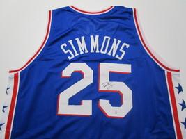 BEN SIMMONS / 2021 NBA ALL-STAR / AUTOGRAPHED 76ERS BLUE CUSTOM JERSEY / COA image 1