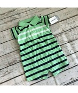 Carter's Baby Boy Striped Polo One-Piece - New Born - $11.63