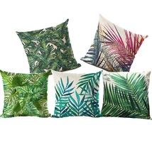 Plants Cushion Cover Tropic Tree Green Throw Pillow Case Decorative for ... - $6.99