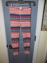 Tucker + Tate Multi Colored Knit Warm Leggings Size 8 Girl's EUC HTF - $16.59