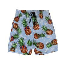 Boys Swim Trunks Summer Beachwear Hawaiian Long Pineapple Kids Board Shorts - L+ image 3