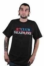 Deadline Uomo Nero 27 Club T-Shirt M L XL Nuovo Abbigliamento Street